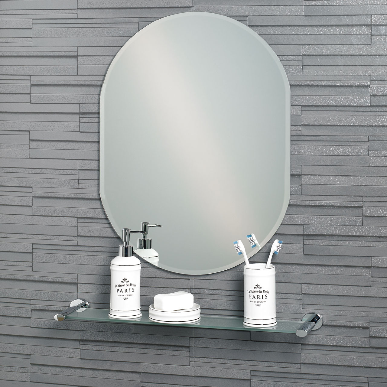 Lincoln 600mm x 450mm Small Oval Mirror