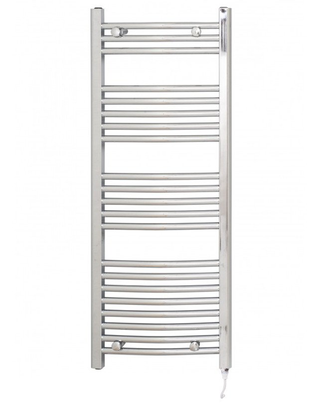 Marco 1150 x 450 Curved Chrome Electric Towel Rail