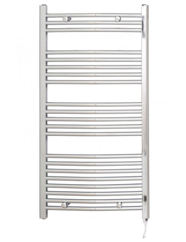 Marco 1150 x 600 Curved Chrome Electric Towel Rail