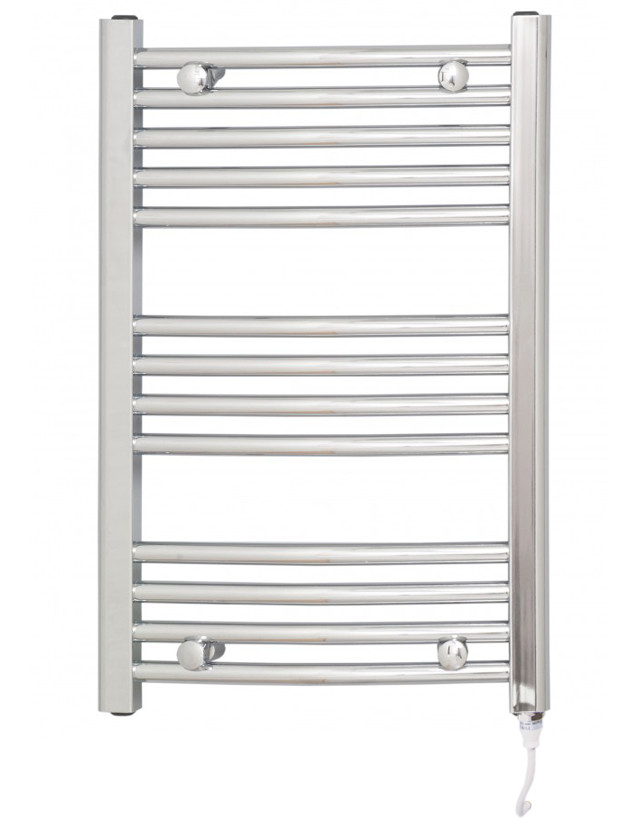 Marco 700 x 450 Curved Chrome Electric Towel Rail
