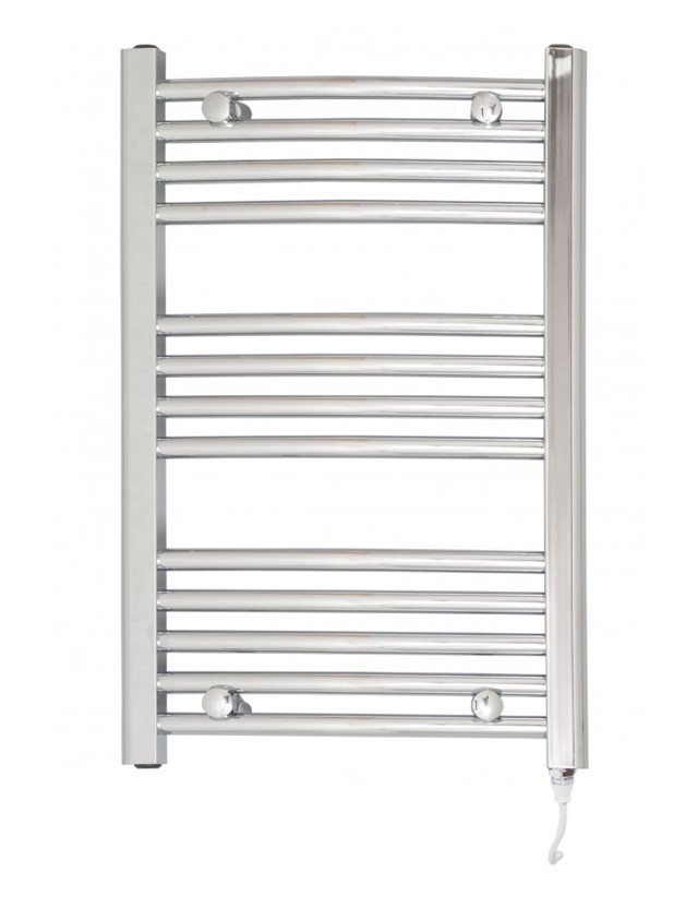 Marco 700 x 500 Curved Chrome Electric Towel Rail