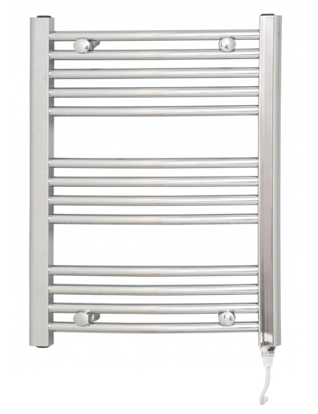Marco 700 x 600 Curved Chrome Electric Towel Rail
