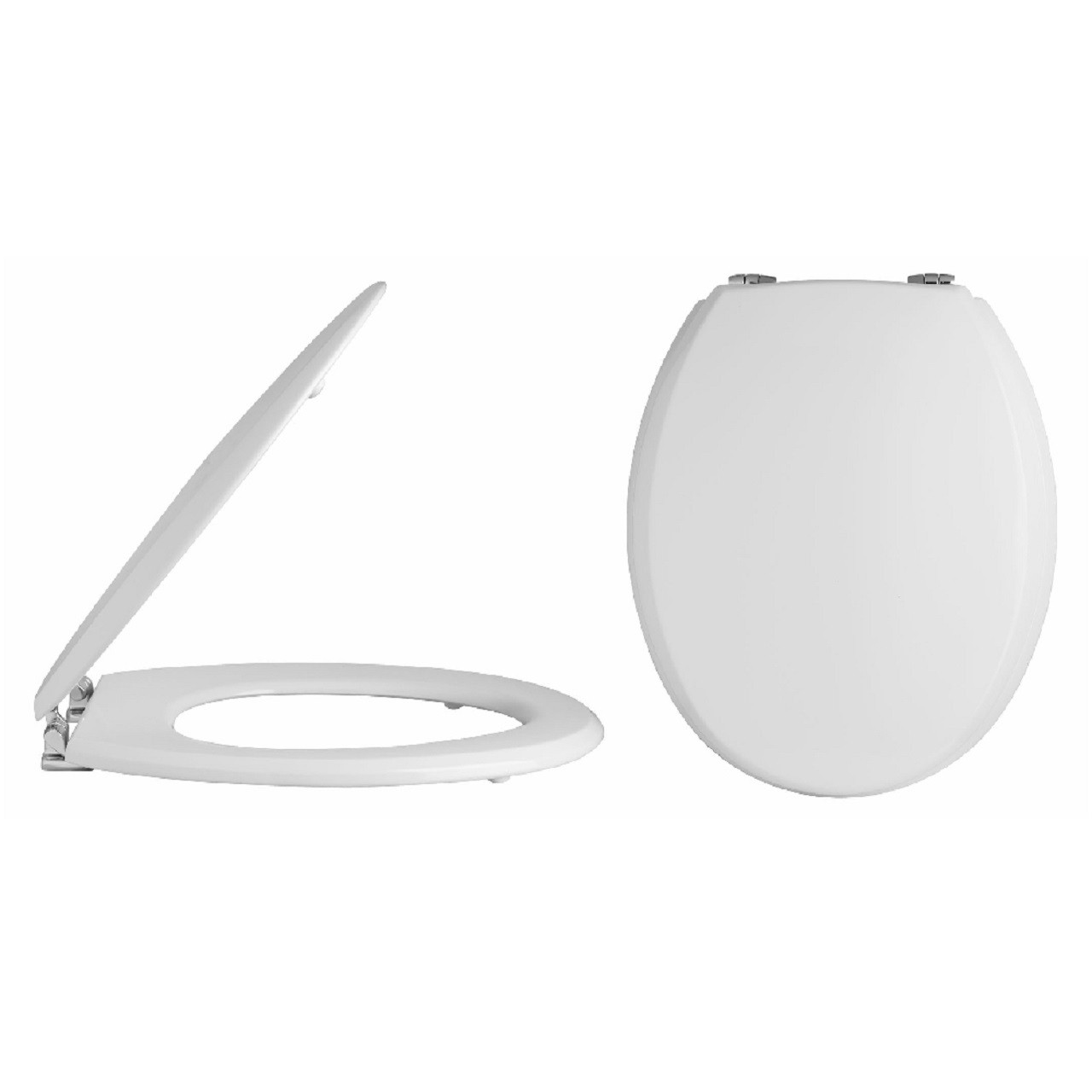 MDF Gloss White Standard Soft Close Toilet Seat