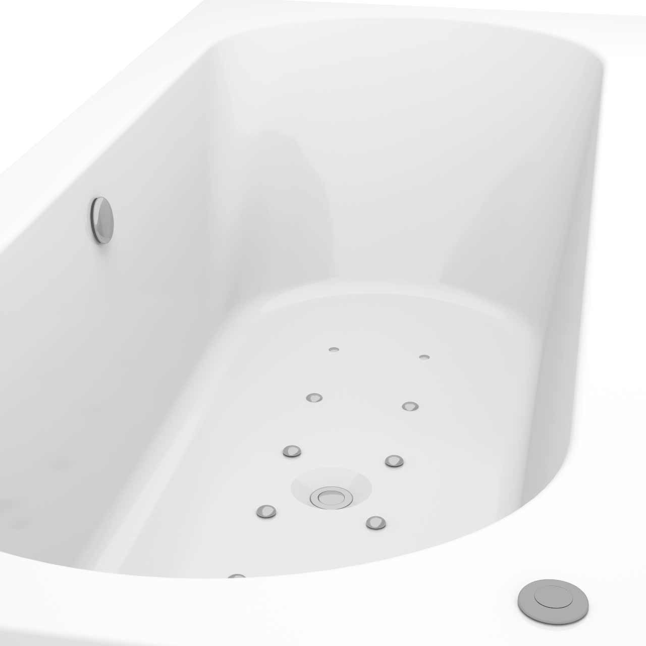 Metropole Centre Tap 12 Jet Easifit Spa Whirlpool Bath 1700x750