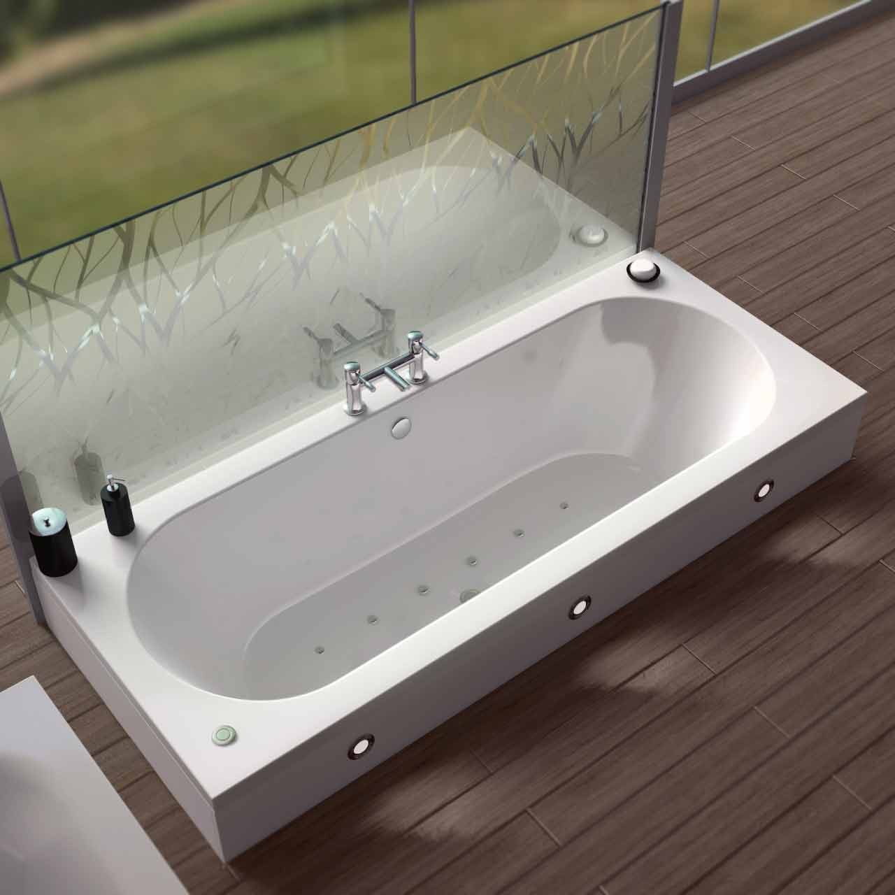 Metropole Centre Tap 12 Jet Easifit Spa Whirlpool Bath 1800x800