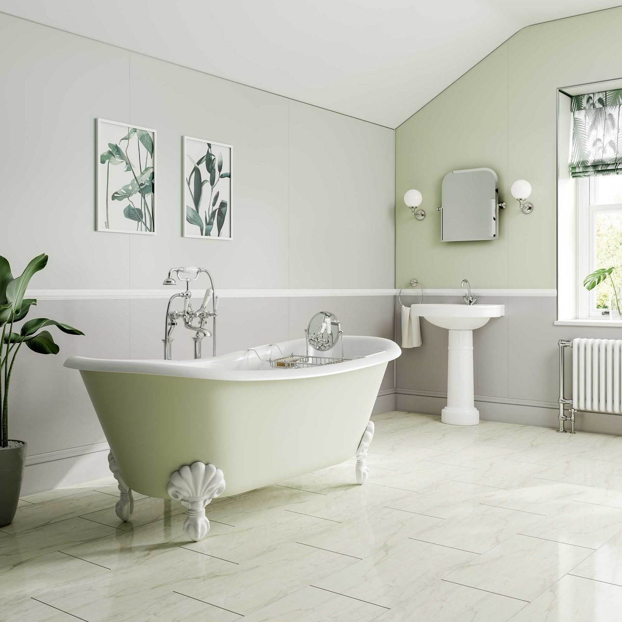 Multipanel Heritage Esher Matte Unlipped Bathroom Wall Panel