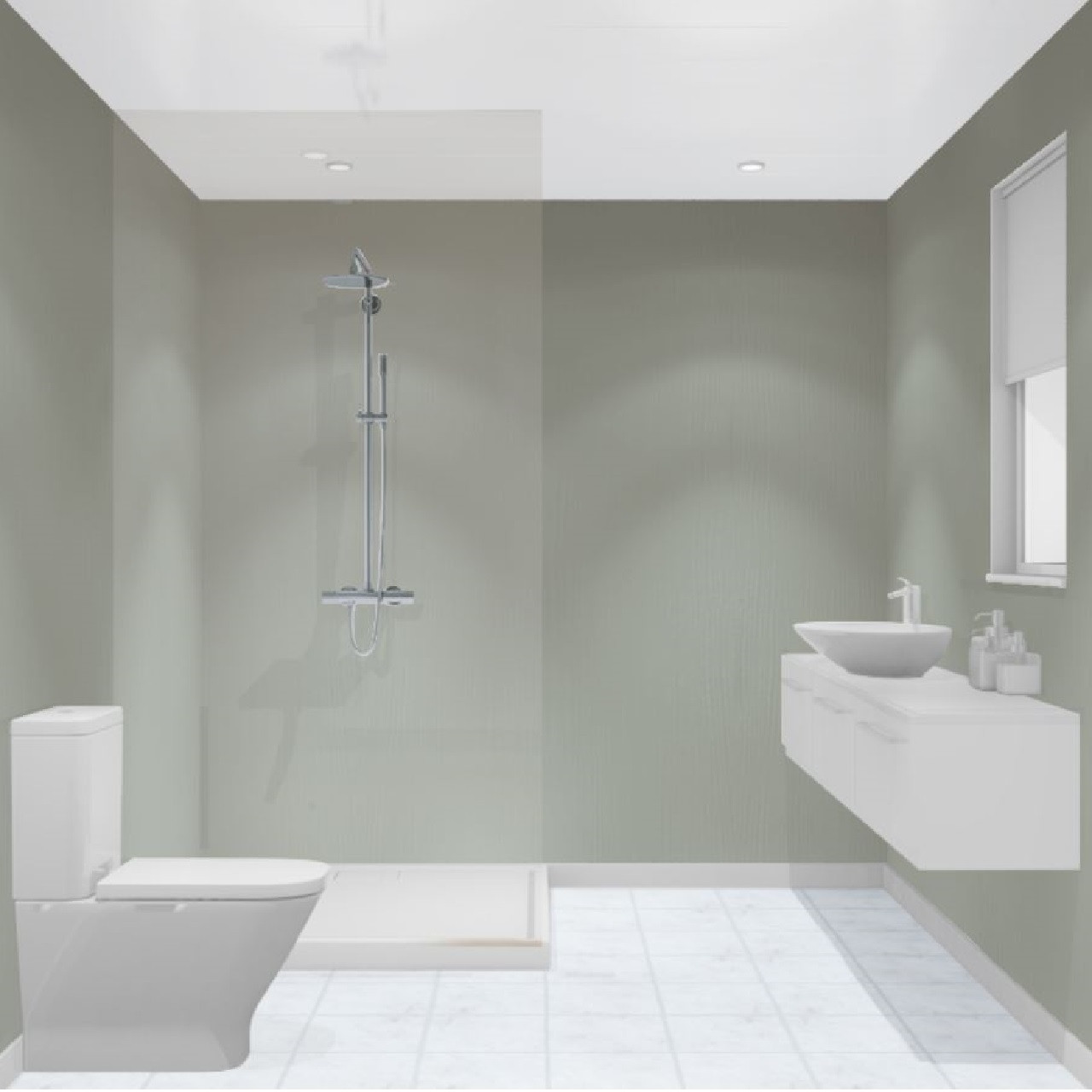 Multipanel Heritage Winchester Linewood Hydro-Lock Tongue & Groove Bathroom Wall Panel