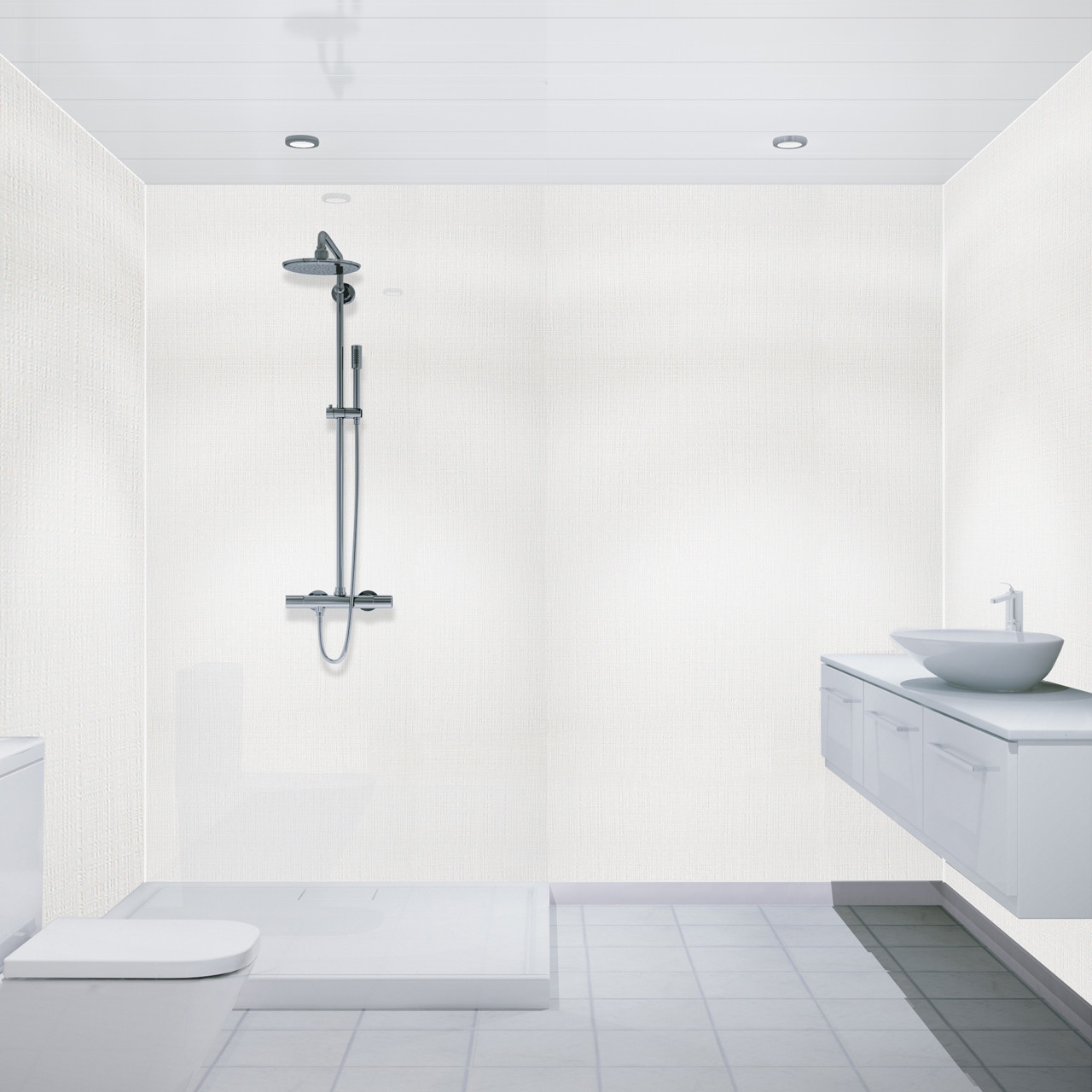 Multipanel Matt White 2700mm x 250mm Bathroom Ceiling Panels