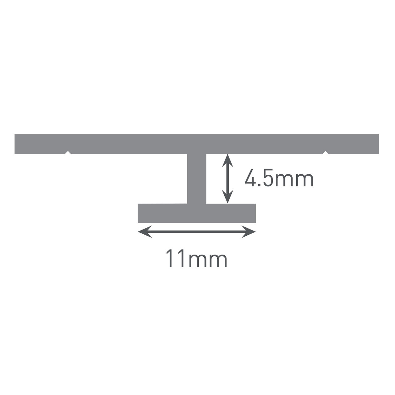Multipanel Reflect 4mm Wall Panel Continuous Joint Trim Type 16 Black