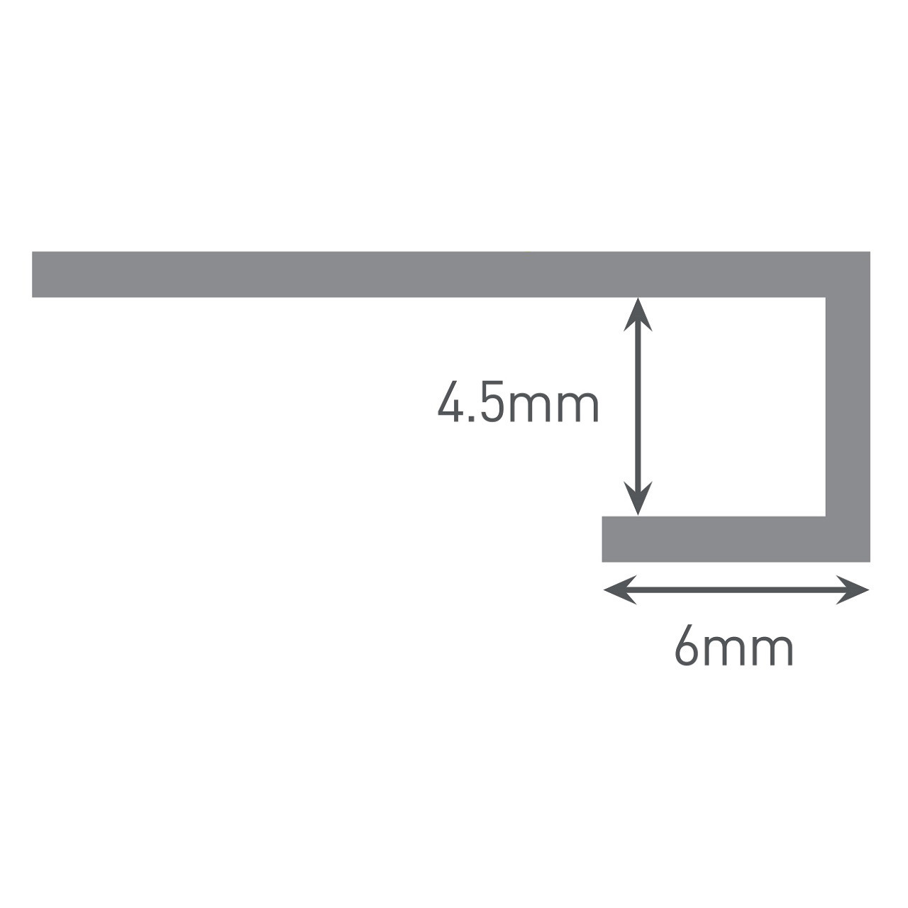Multipanel Reflect 4mm Wall Panel End Cap Trim Type 14 White