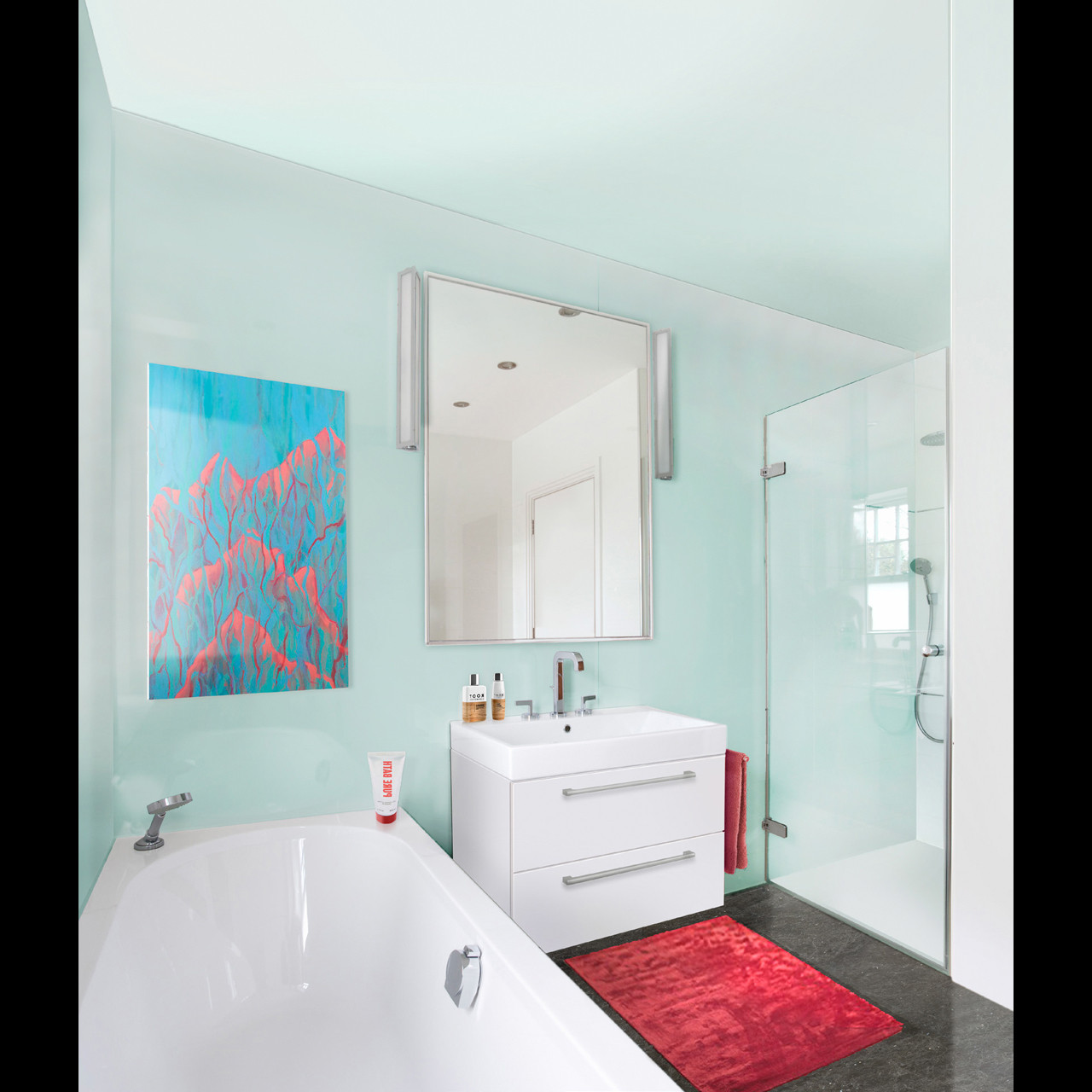 Multipanel Reflect Aqua 2440mm x 1220mm Bathroom Wall Panel