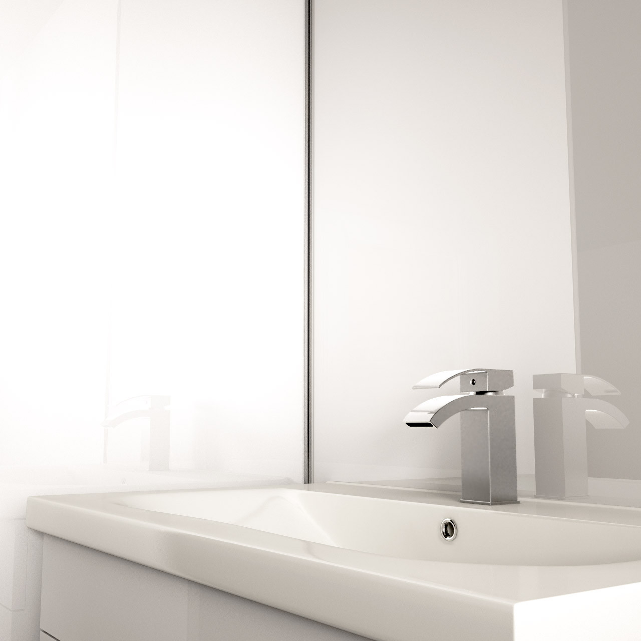 Multipanel Reflect White 2440mm x 1220mm Bathroom Wall Panel