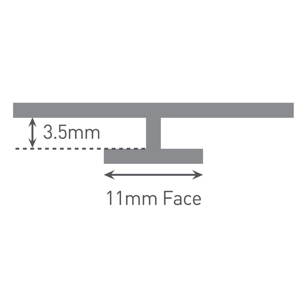 Multipanel Tile 3mm Wall Panel Continuous Joint Trim Type G White