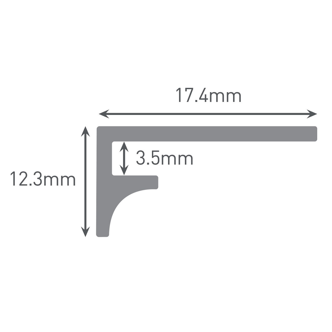 Multipanel Tile 3mm Wall Panel Last Panel Profile Trim Type Z Black