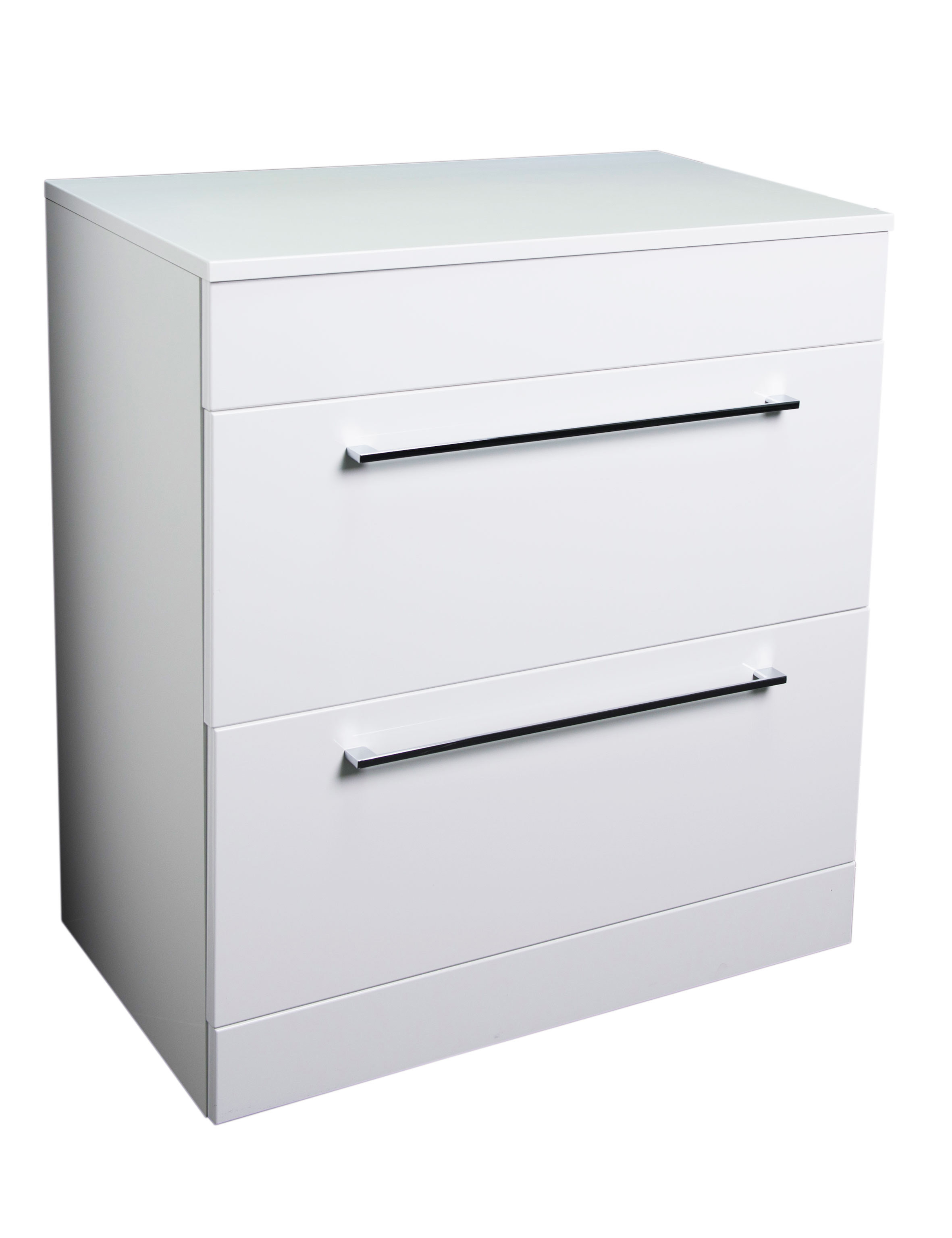 Napoli Gloss White 2 Drawer 800 Unit & Top