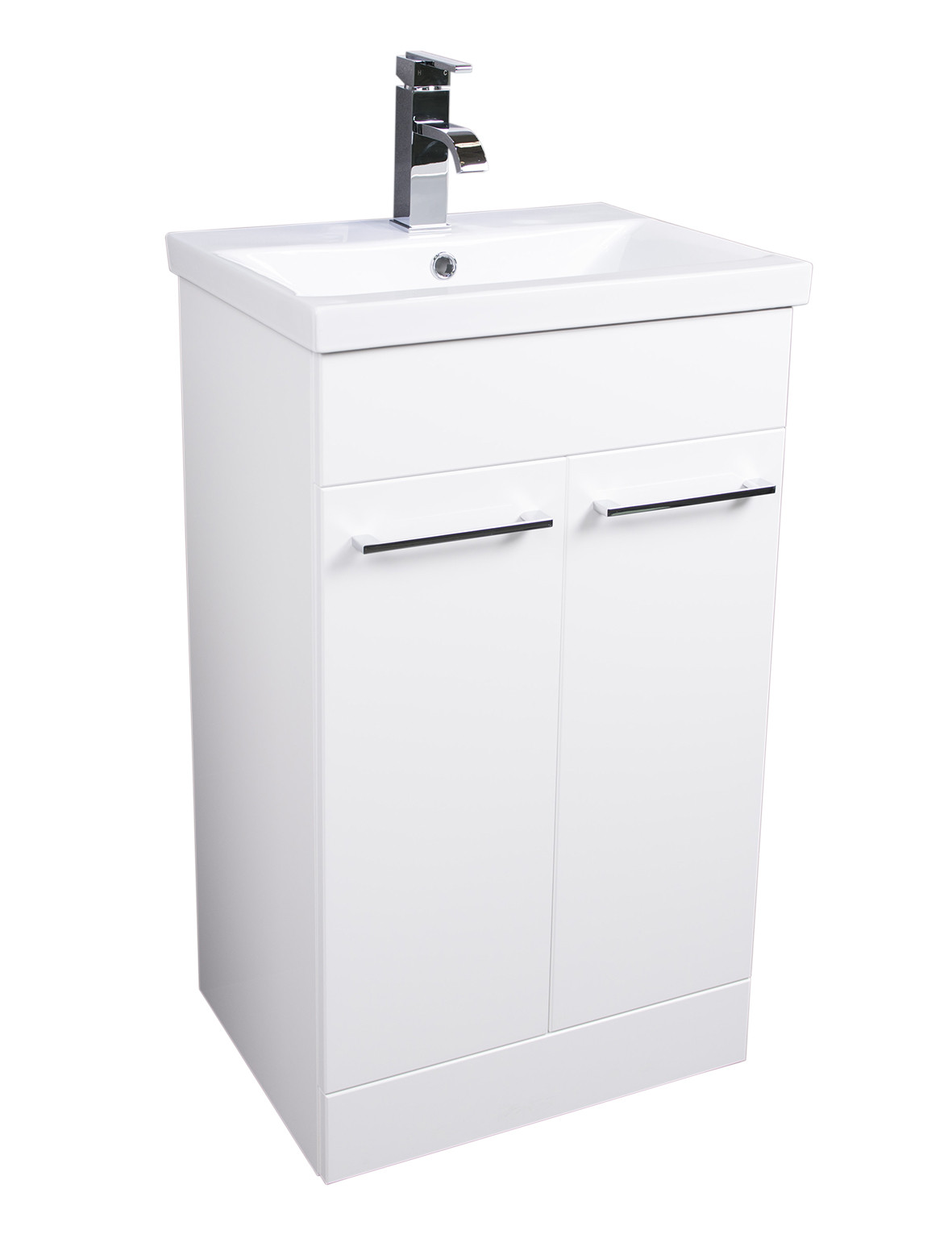 Napoli Gloss White 2 Door 500 Unit & Basin