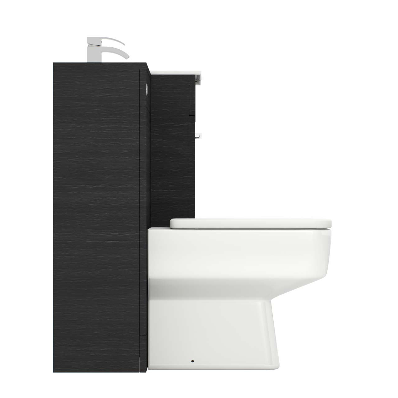 Napoli Black Oak 1000mm 2 Drawer Vanity Unit Toilet Suite