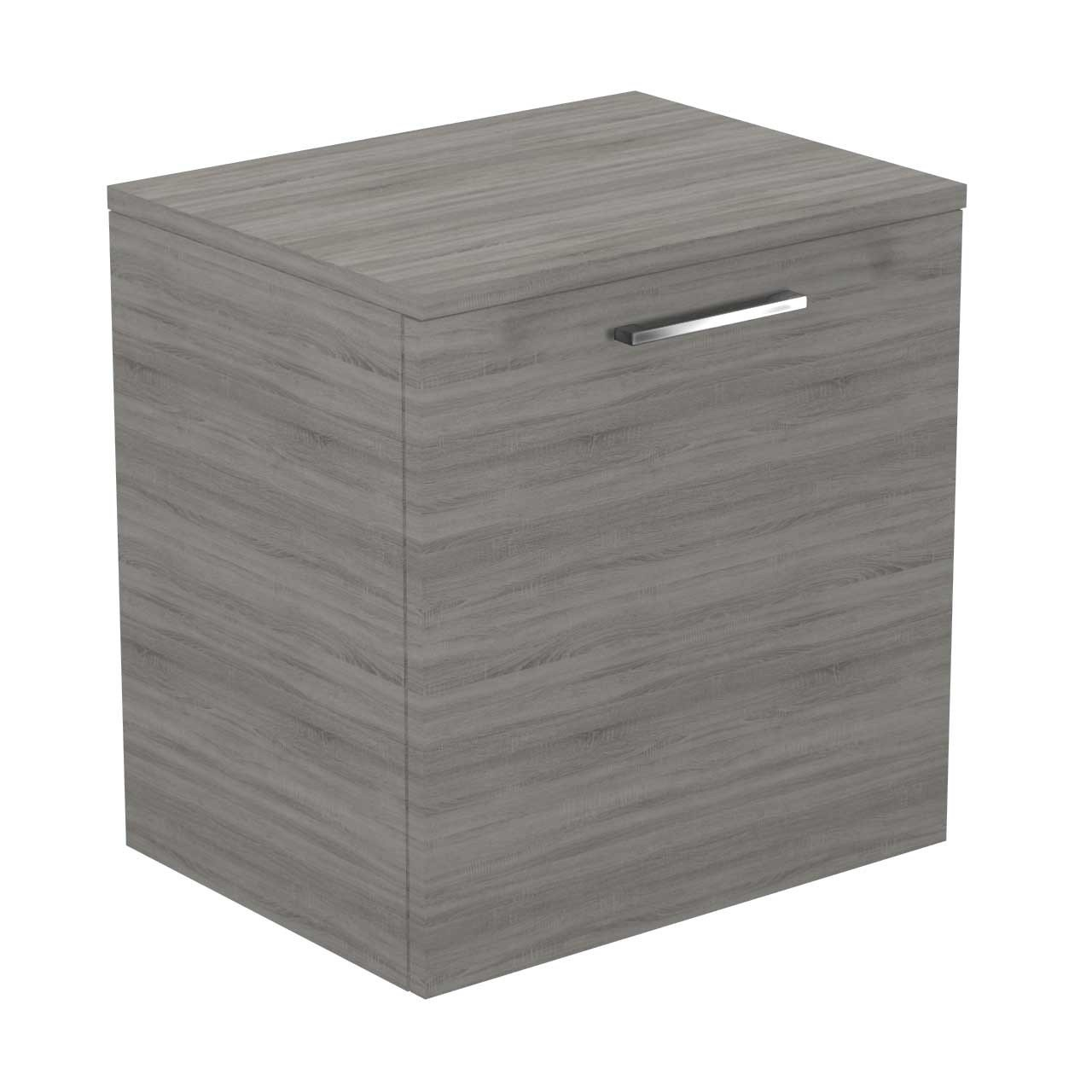Napoli Molina Ash 500mm Wall Mounted 1 Drawer Vanity Unit With Top