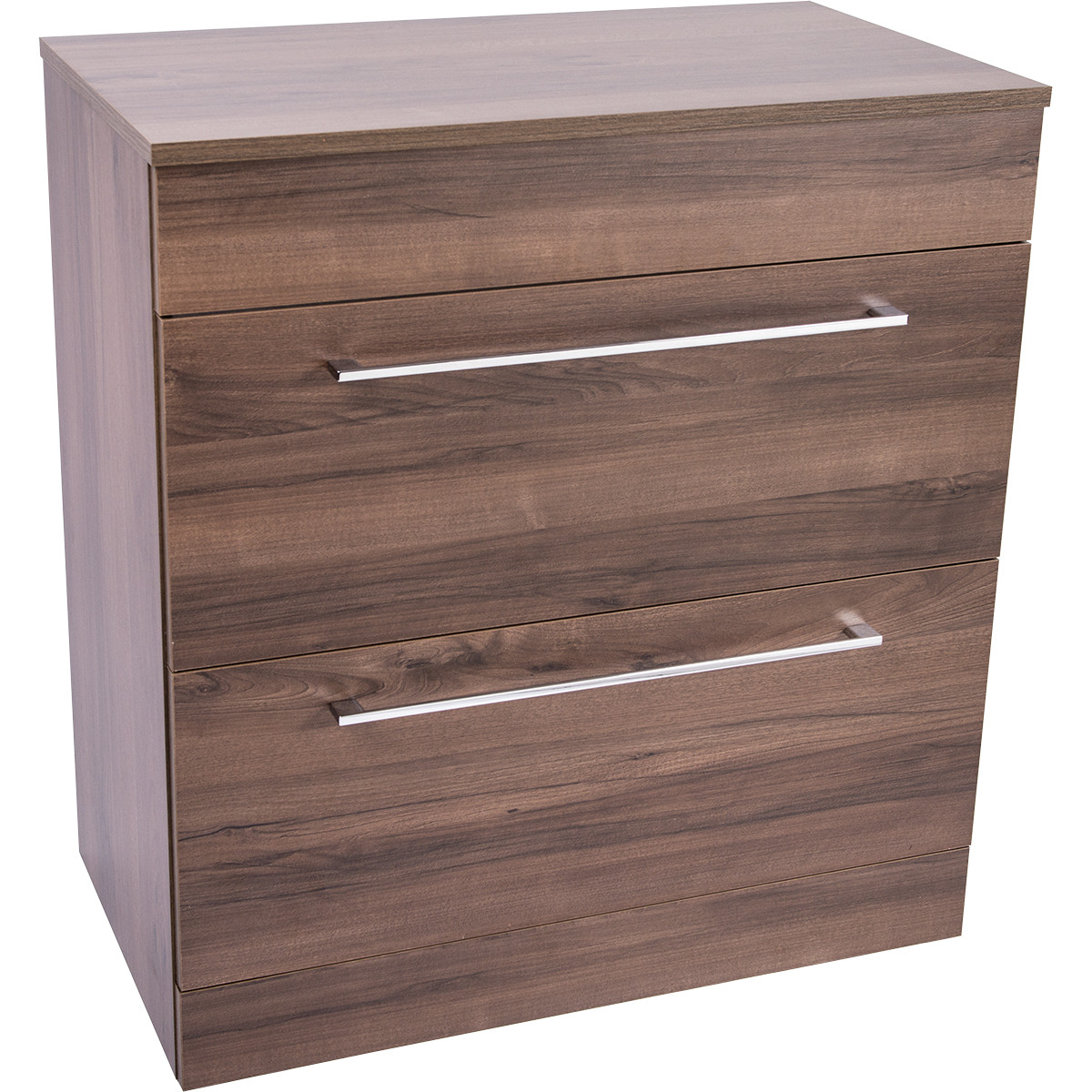 Napoli Walnut 2 Drawer 800 Unit & Top