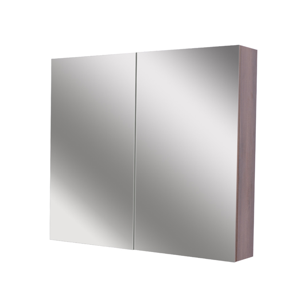 Napoli Walnut 800 Mirror Wall Cabinet