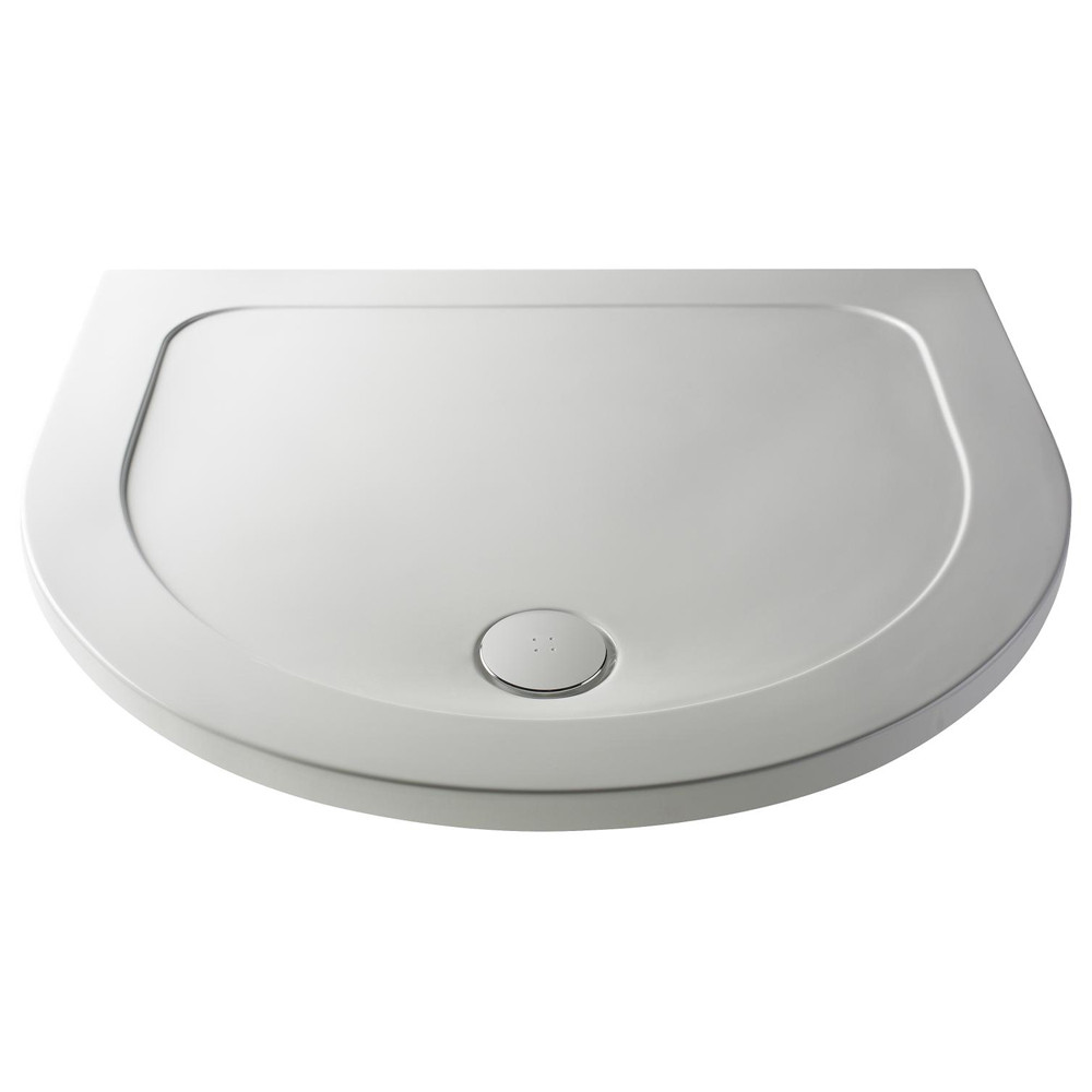 40mm Pearlstone 1050 x 950  D Shaped Shower Tray