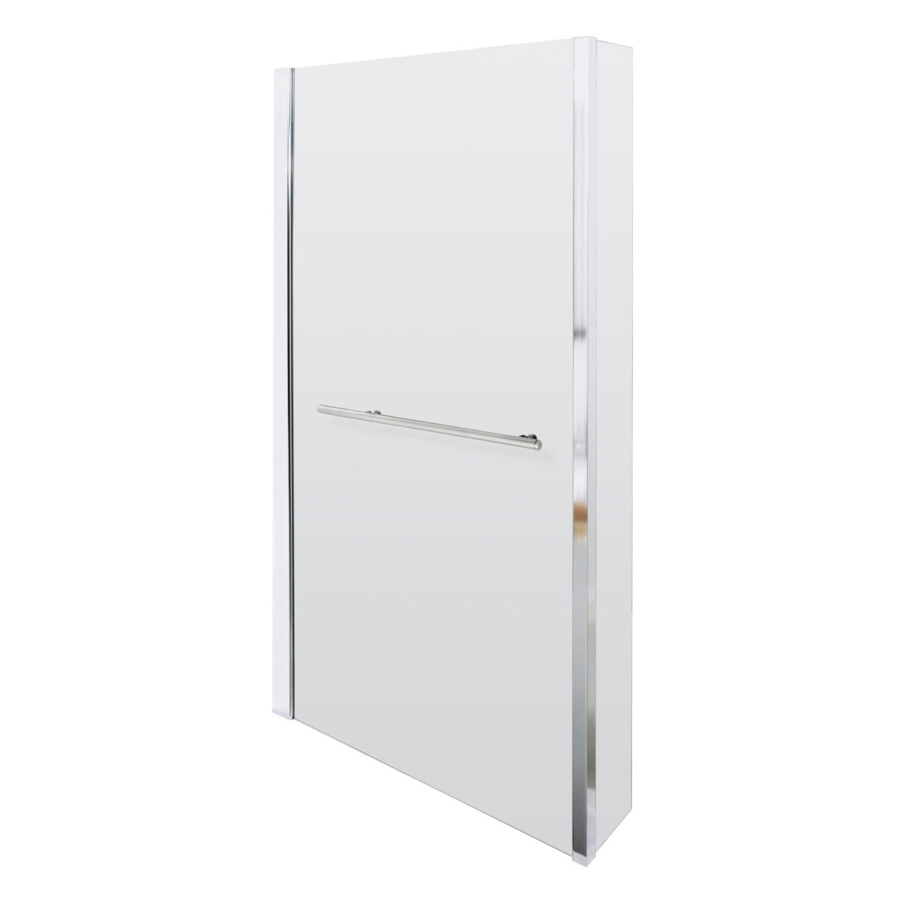 Nuie Quattro 805mm Square Hinged Shower Bath Screen with Rail - NSBSR1