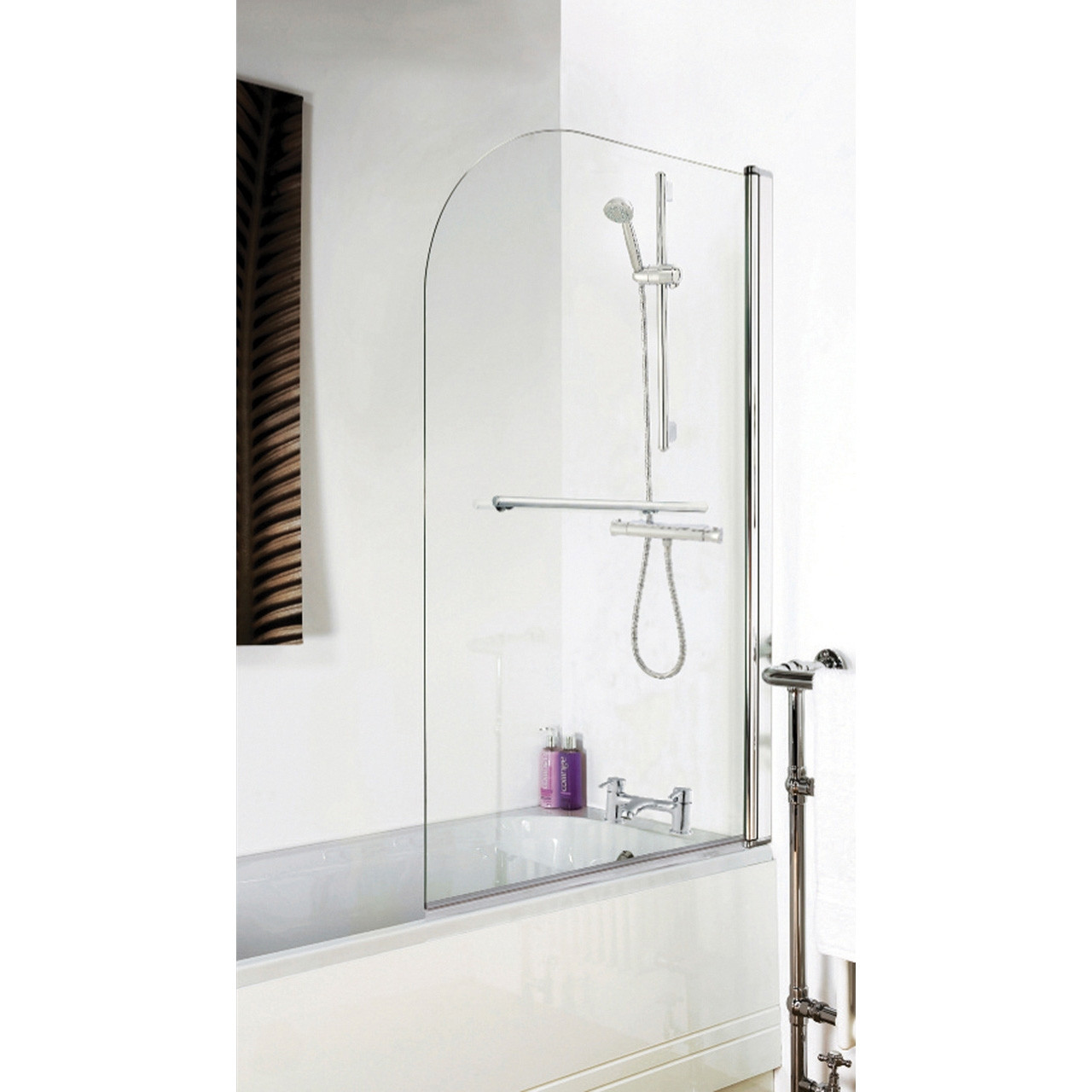 Premier Straight Bath Screen with Rail - NSSR1