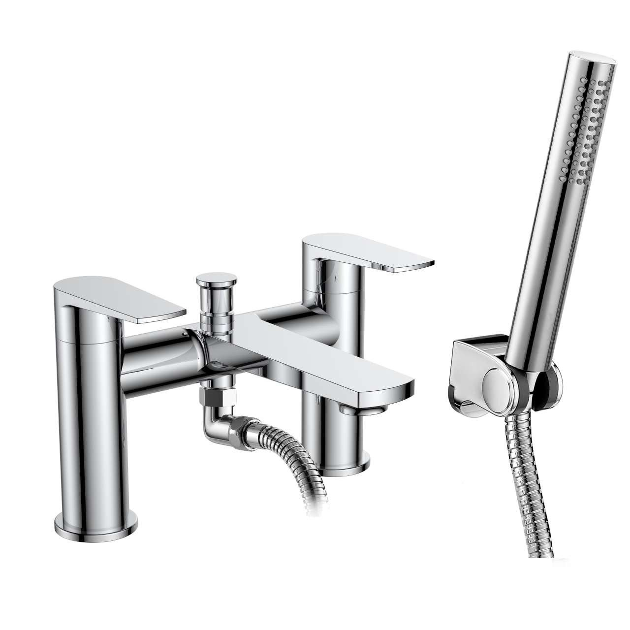 Nuie Bailey Round Deck Mounted Bath and Shower Mixer Tap - BAI304