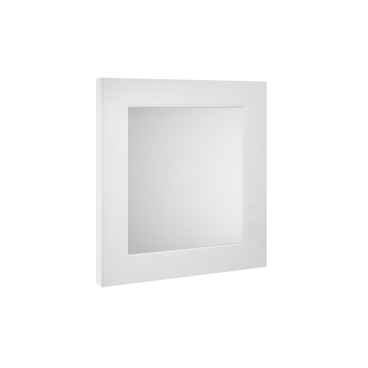 Nuie York White Ash 600mm Flat Mirror - OLF114