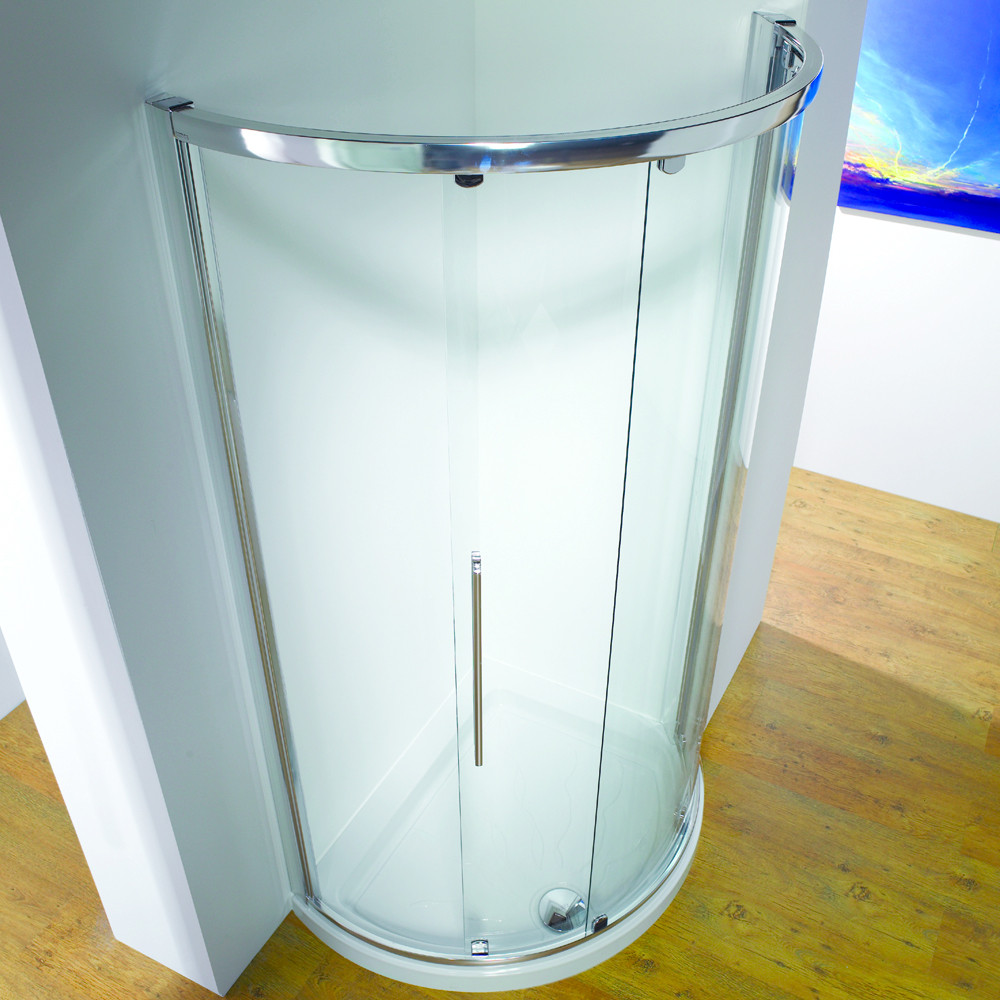 Kudos Original Offset Curved Slider Side Access Door 1000 x 810 Silver