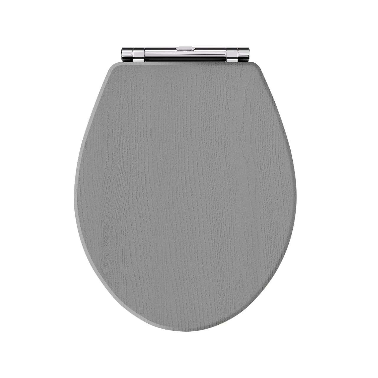 Old London Rhyther Storm Grey Traditional Toilet Seat - LOS299