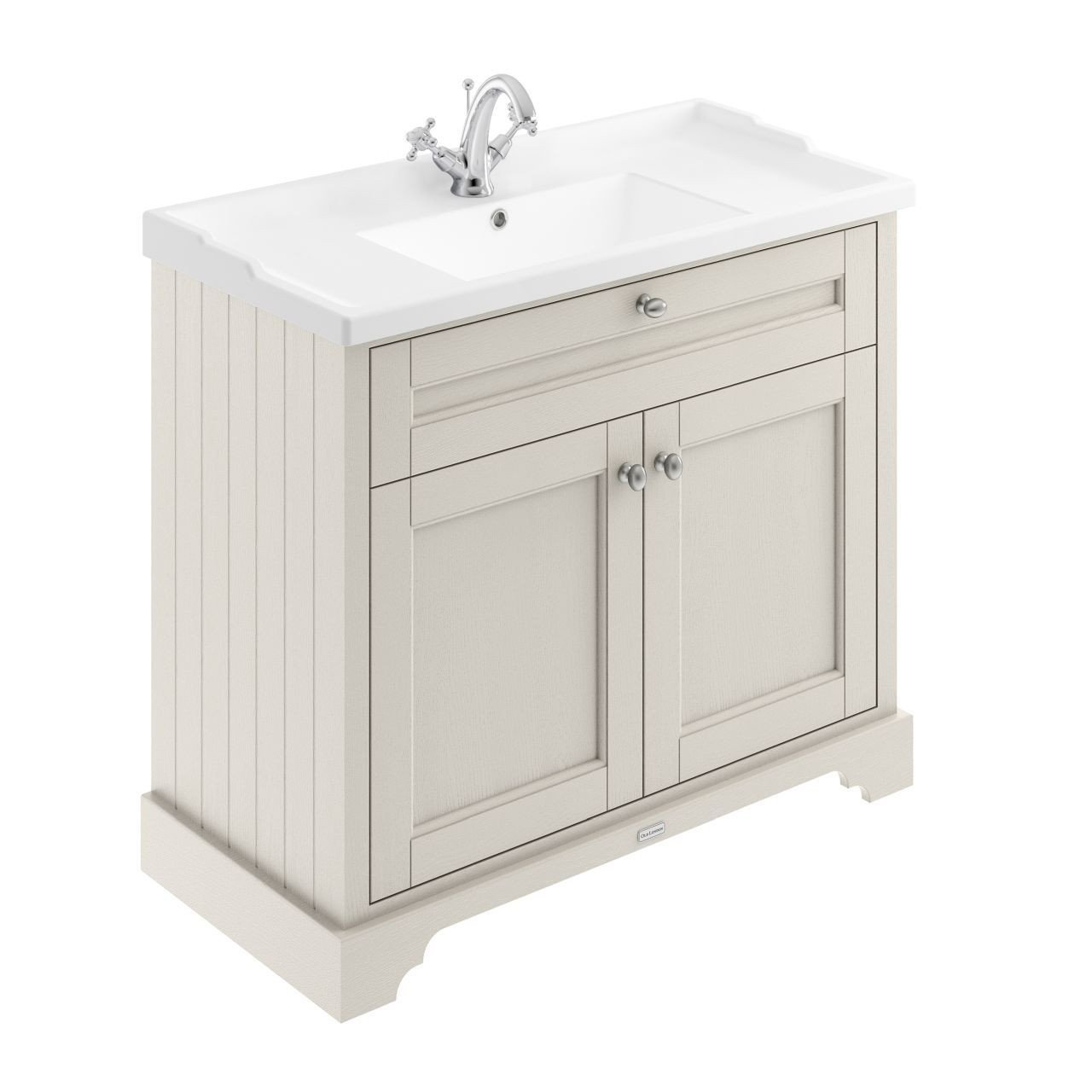 Old London Timeless Sand 1000mm 2 Door Vanity Unit and Basin with 1 Tap Hole - LOF407