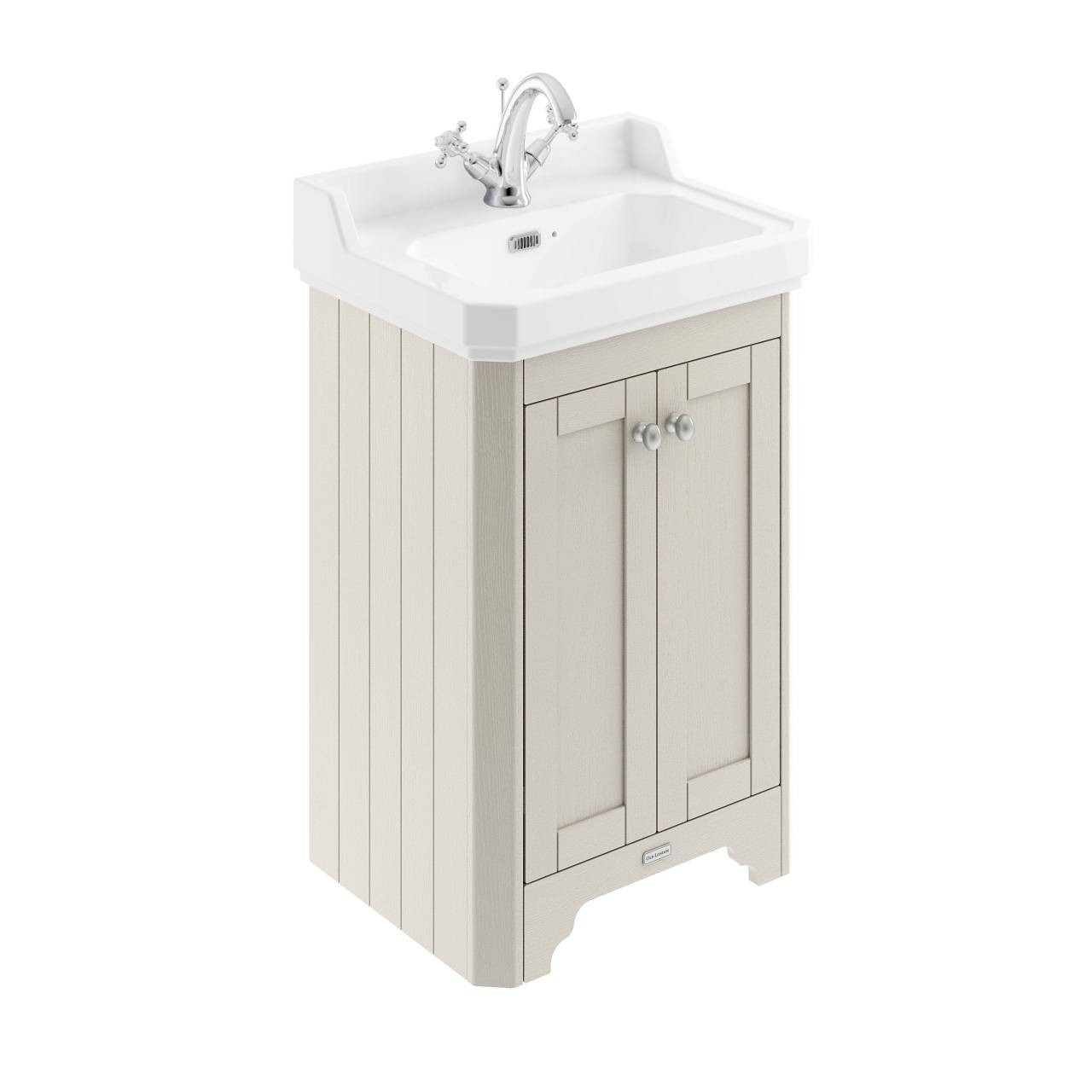 Old London Timeless Sand 560mm 2 Door Vanity Unit and Basin with 1 Tap Hole - LOF473