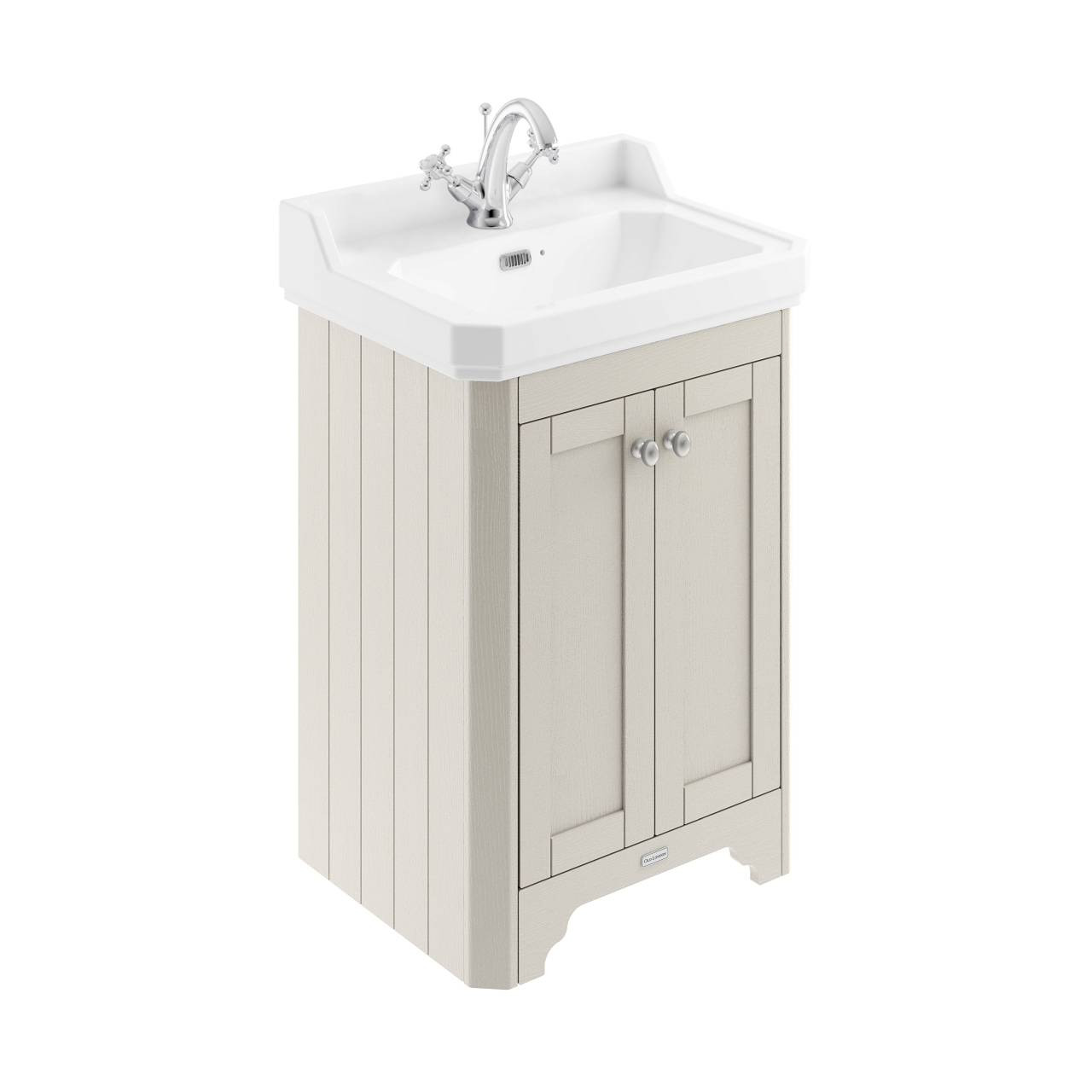 Old London Timeless Sand 595mm 2 Door Vanity Unit and Basin with 1 Tap Hole - LOF470