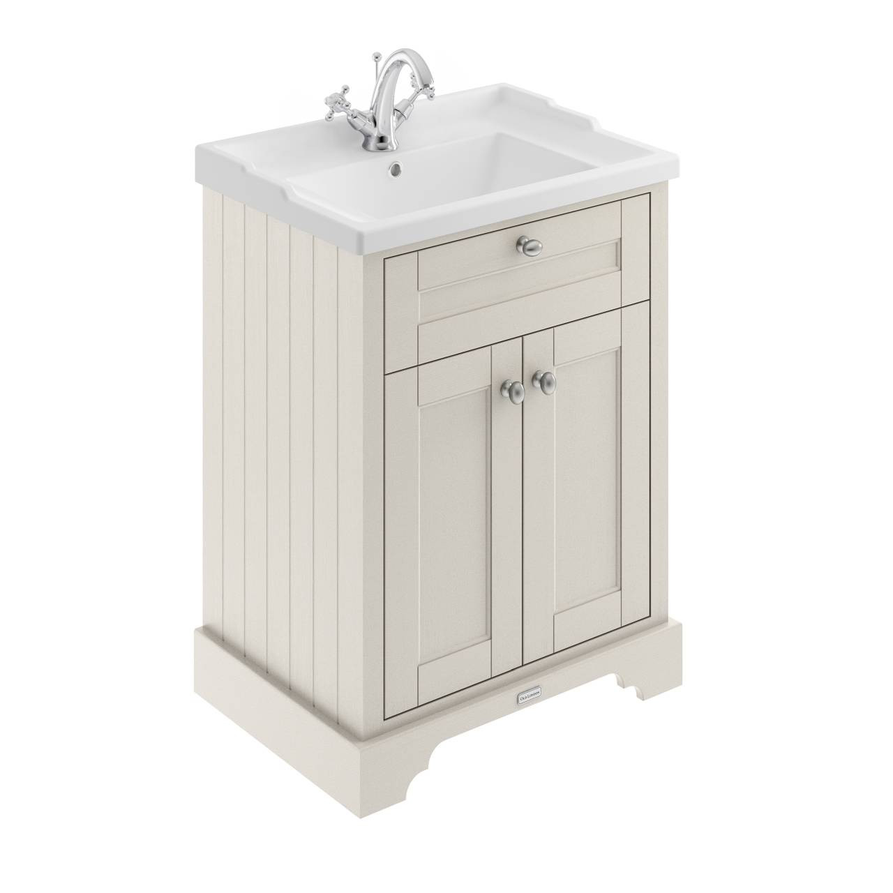 Old London Timeless Sand 600mm 2 Door Vanity Unit and Basin with 1 Tap Hole - LOF403