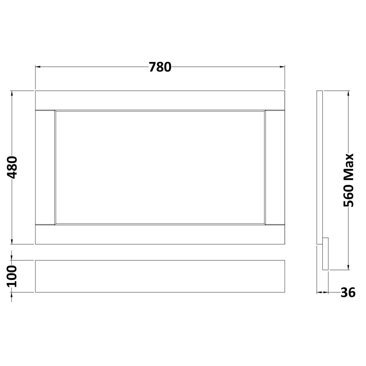 Old London Timeless Sand 800mm Bath End Panel - LOP413