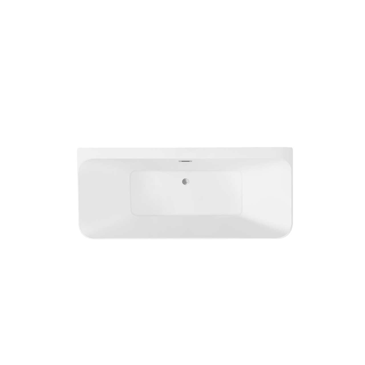 Palermo 1500mm x 740mm Square Double Ended Freestanding Back to Wall Bath