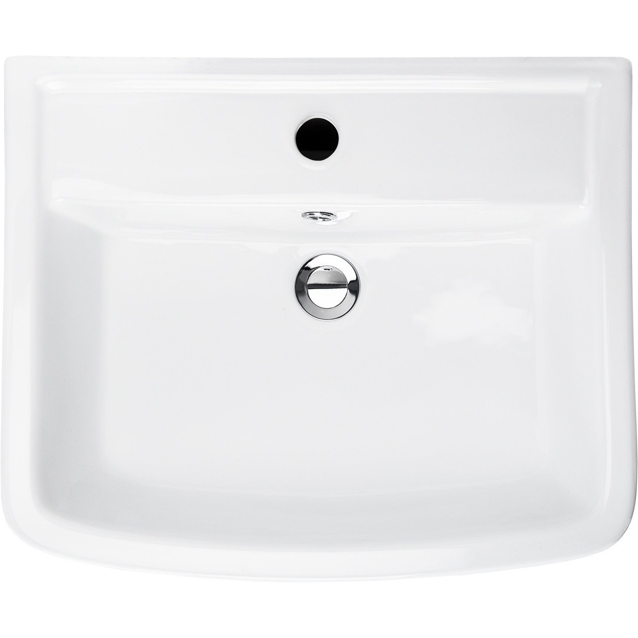 Paulo 520mm Basin & Full Pedestal Overhead