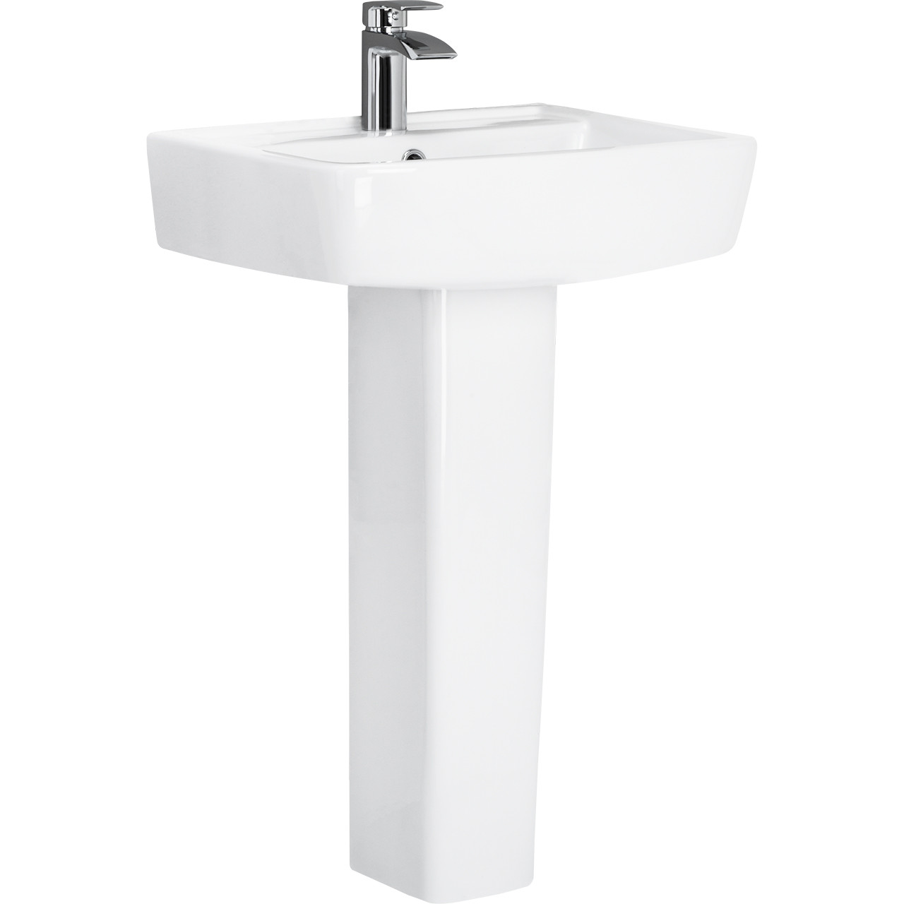 Paulo 600mm Basin & Full Pedestal