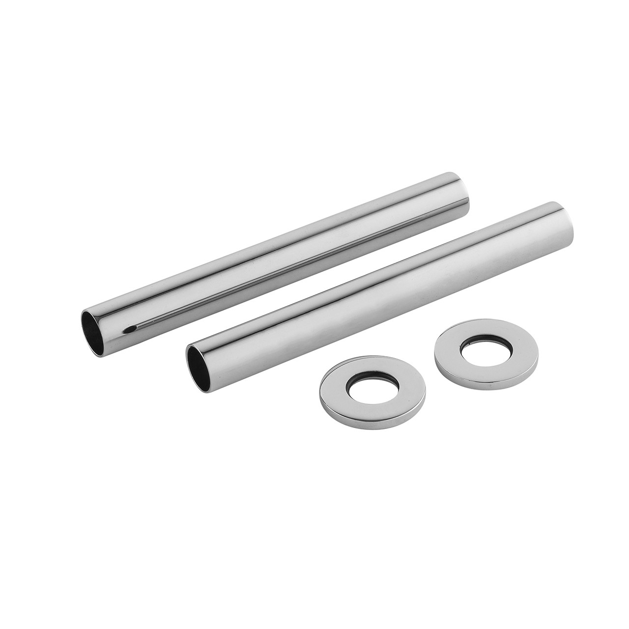 Premier Chrome Pipe Covers 128mm x 15mm - EA367