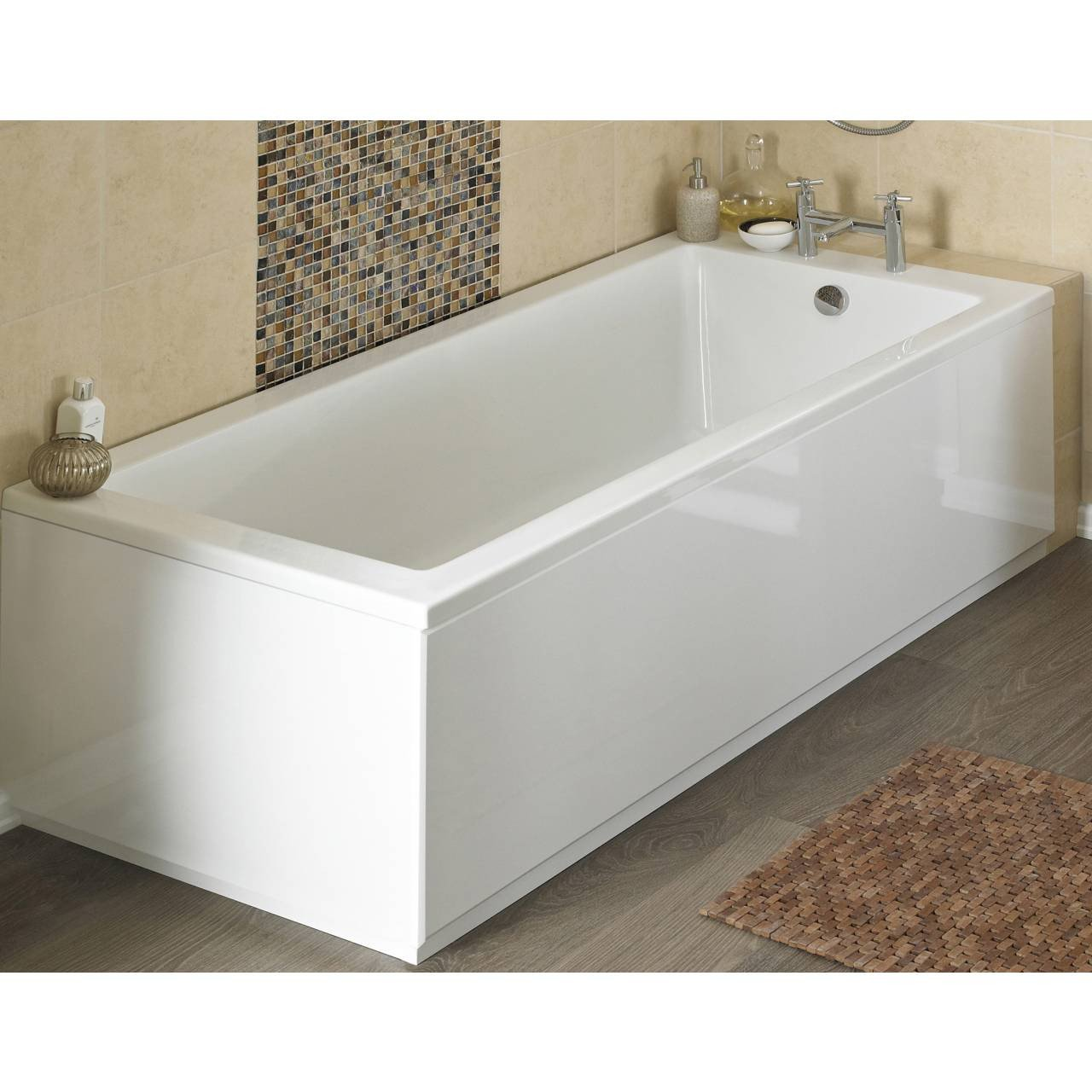 Hudson Reed Classic White 1800mm Front Bath Panel with Plinth - BPR107