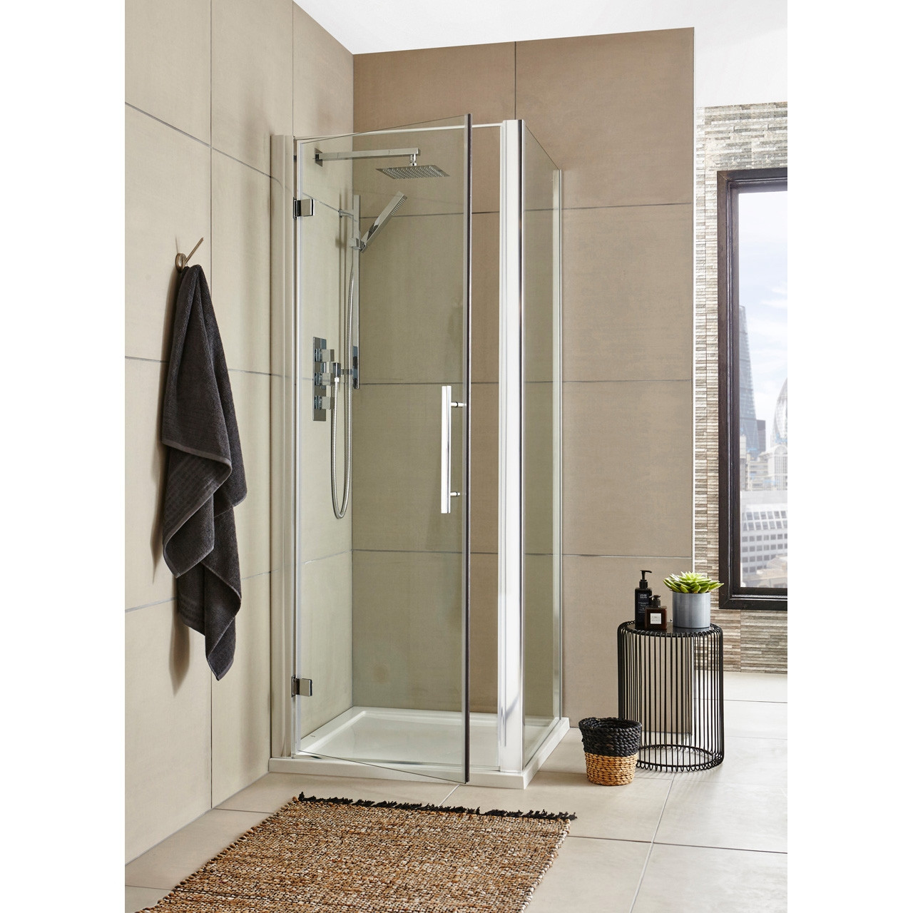 Premier 900mm Hinged Door 8mm Thick - MH90-E8