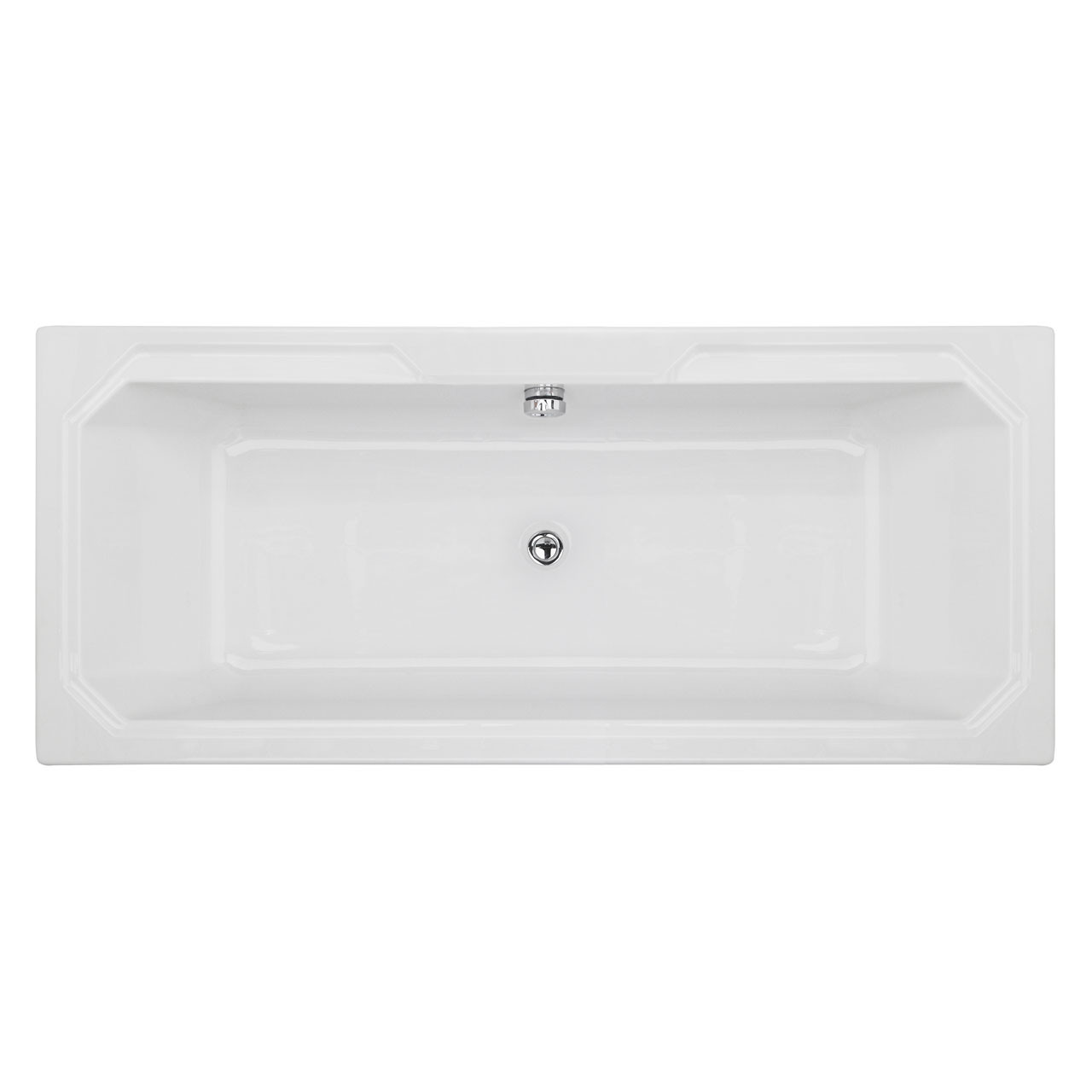 Nuie Ascott 1800mm x 800mm Art Deco Single Ended Bath - NLB114