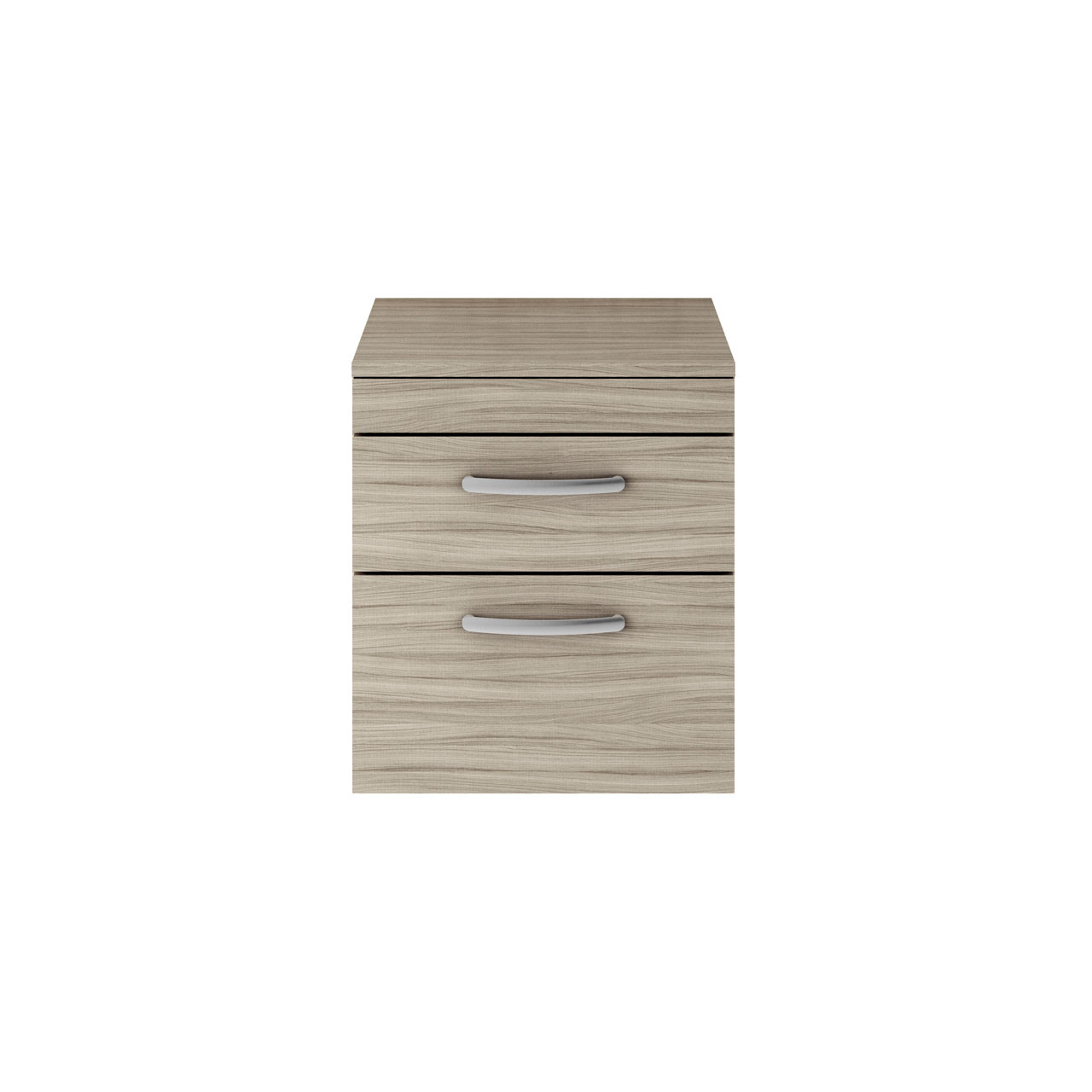 Premier Athena Driftwood 500mm Wall Hung 2 Drawer Vanity Unit with Worktop - ATH015W