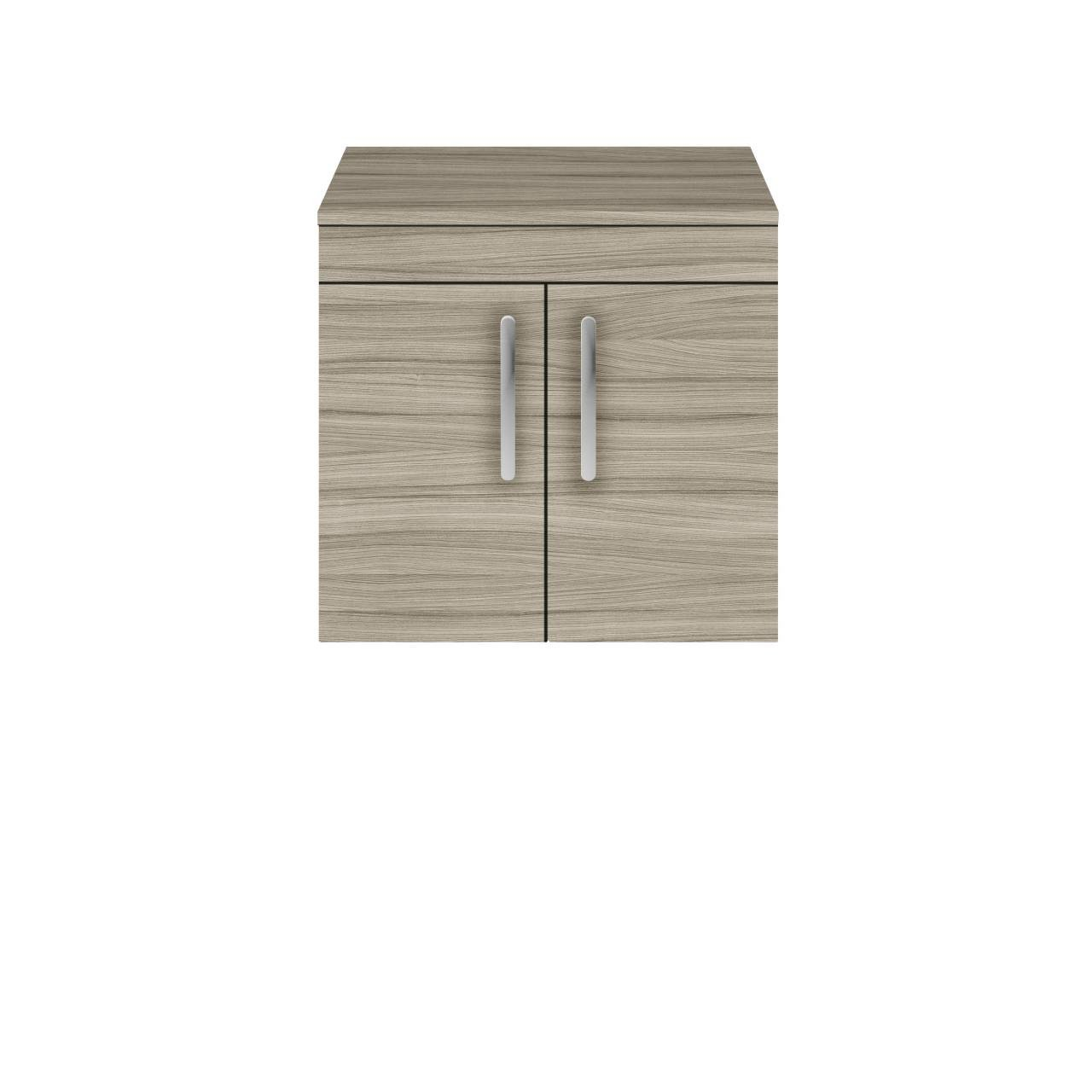 Premier Athena Driftwood 600mm Wall Hung 2 Door Vanity Unit with Worktop - ATH089W