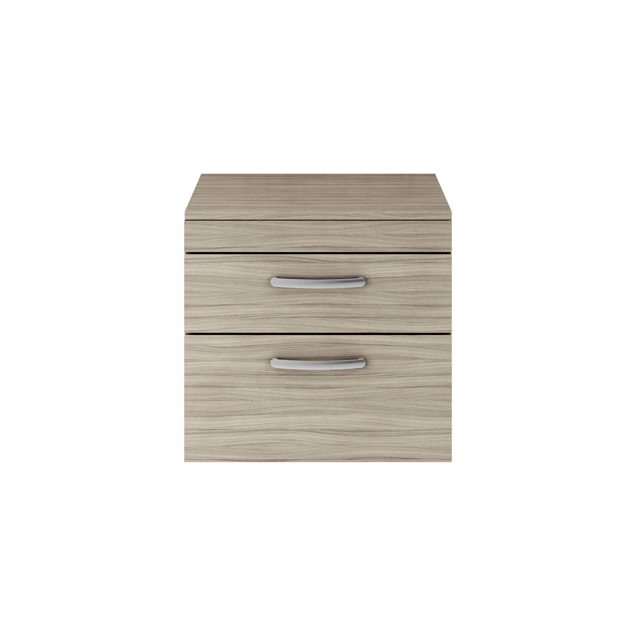 Premier Athena Driftwood 600mm Wall Hung 2 Drawer Vanity Unit with Worktop - ATH043W