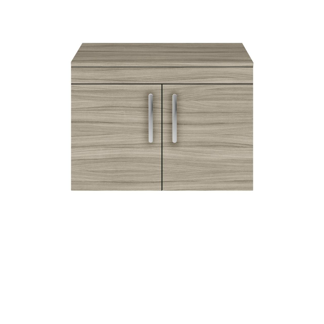 Premier Athena Driftwood 800mm Wall Hung 2 Door Vanity Unit with Worktop - ATH096W