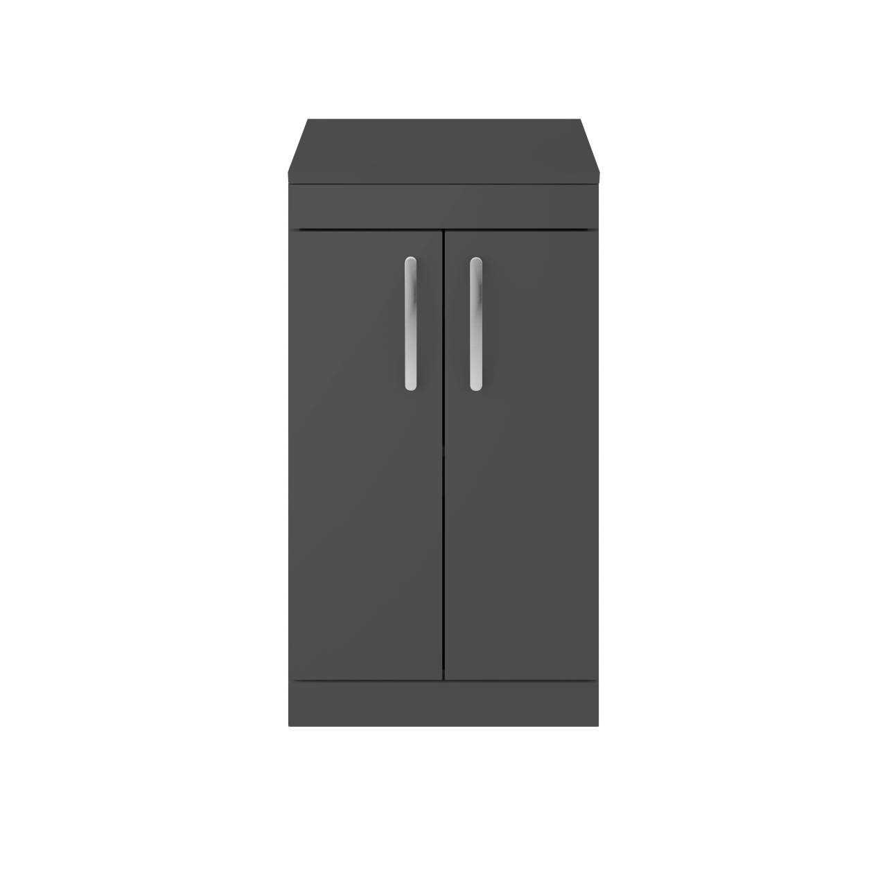Premier Athena Gloss Grey 500mm 2 Door Vanity Unit with Worktop - ATH072W