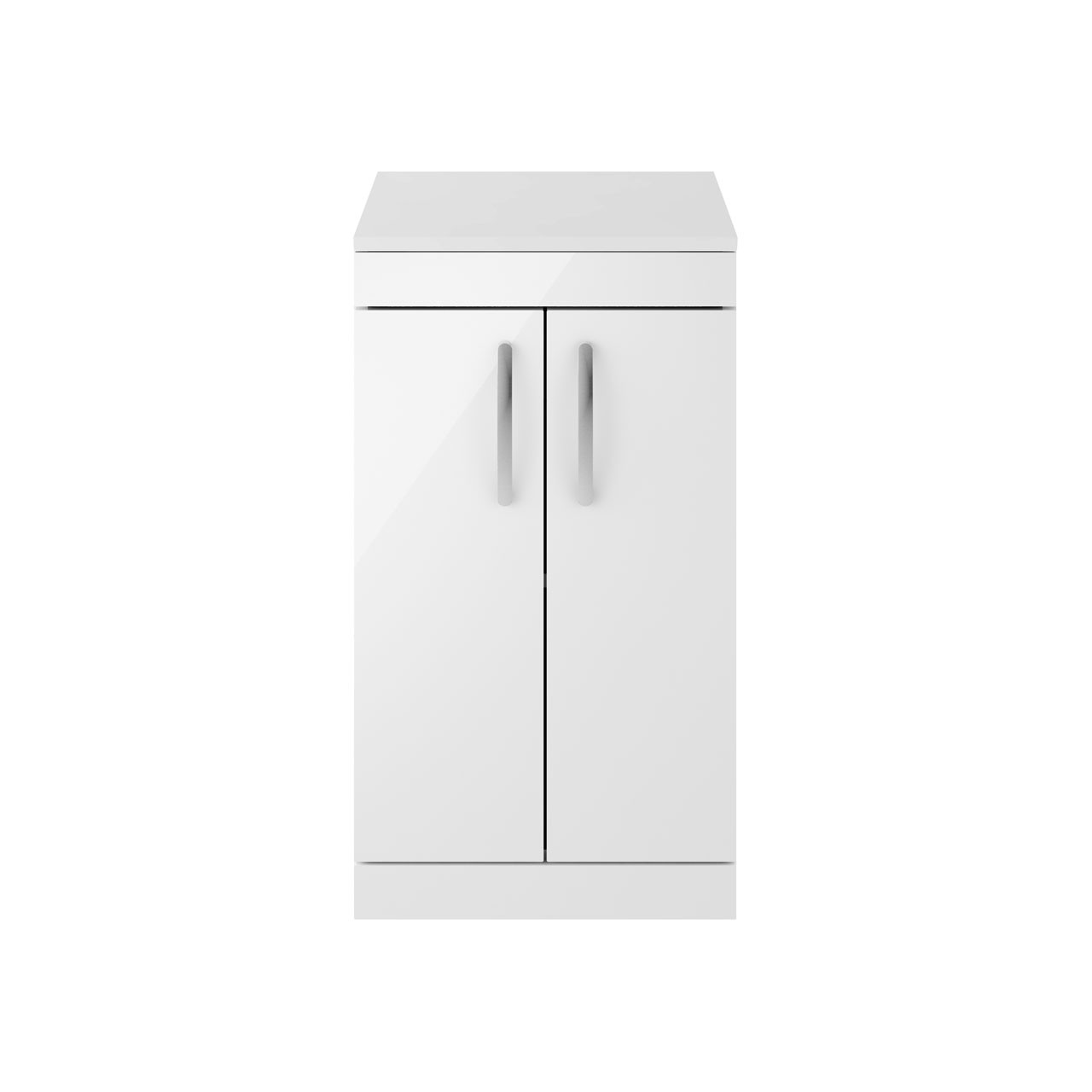 Premier Athena Gloss White 500mm 2 Door Vanity Unit with Worktop - ATH006W