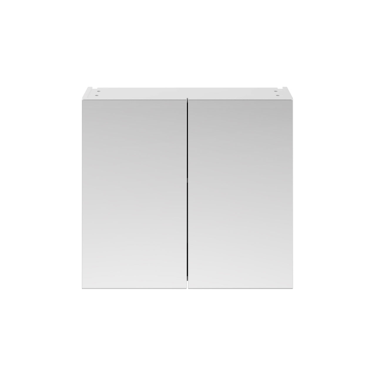 Premier Athena Gloss White 800mm 2 Door Mirror Unit - OFF119